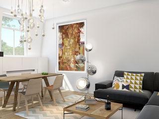 ZR-architects Skandinavische Wohnzimmer