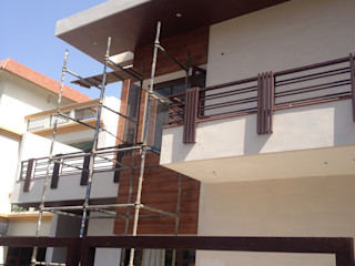 JRD Associates Casas modernas Papel Efeito de madeira