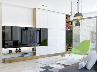 ZR-architects Minimalistische Wohnzimmer