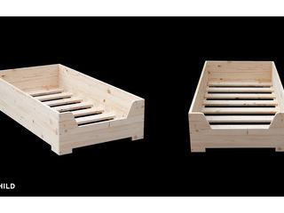 Woomo Child BED Woomo Habitaciones infantilesCamas y cunas Madera maciza Acabado en madera