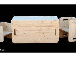Woomo Montessori PACK Woomo Habitaciones infantilesEscritorios y sillas Madera maciza Acabado en madera
