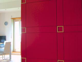 Casa Privata Giuliana Andretta Architetto Soggiorno moderno MDF Rosso