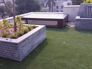 JRD Associates Varandas, alpendres e terraços clássicos Sintético Verde