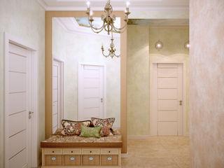 Студия интерьерного дизайна happy.design Eclectic style corridor, hallway & stairs