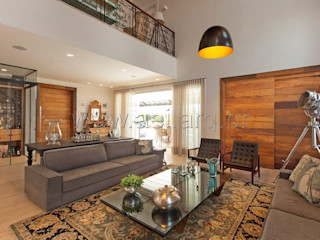 aei arquitetura e interiores 现代客厅設計點子、靈感 & 圖片