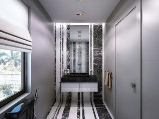 Bathrooms. USA KAPRANDESIGN Ванная комната в эклектичном стиле Мрамор Черный