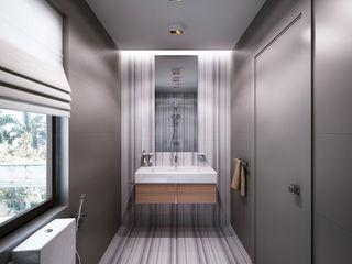 Bathrooms. USA KAPRANDESIGN Ванная комната в эклектичном стиле Плитка Коричневый