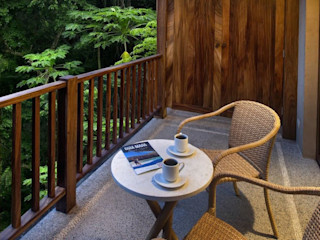 BR ARQUITECTOS Balcon, Veranda & Terrasse tropicaux Bois Effet bois