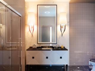 Apartment in Moscow KAPRANDESIGN Ванная в классическом стиле Мрамор Бежевый