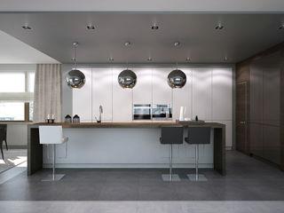 Kitchen. Options. USA KAPRANDESIGN Кухня в стиле минимализм МДФ Белый