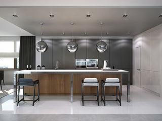 Kitchen. Options. USA KAPRANDESIGN Кухня в стиле минимализм Дерево Коричневый