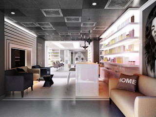 GlamVie. Salon KAPRANDESIGN Торговые центры в эклектичном стиле МДФ Черный