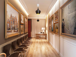 Maximov Studio. New York KAPRANDESIGN Выставочные центры в эклектичном стиле Дерево Бежевый