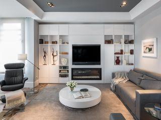 Laura Yerpes Estudio de Interiorismo Eclectic style living room Grey