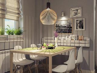 Alena Gorskaya Design Studio Modern kitchen Grey