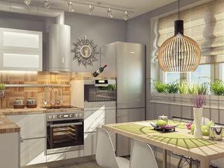 Alena Gorskaya Design Studio Modern kitchen White