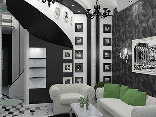 Alena Gorskaya Design Studio Eclectic style living room Black
