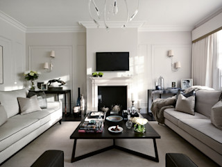 Ferncroft Avenue, Hampstead Boscolo Ruang Keluarga Modern