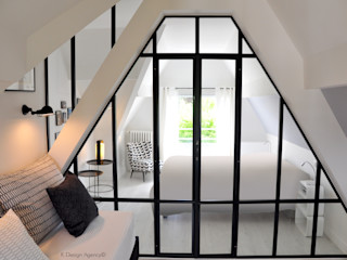Un Nid Sous Les Toits - By K Design Agency K Design Agency Chambre industrielle