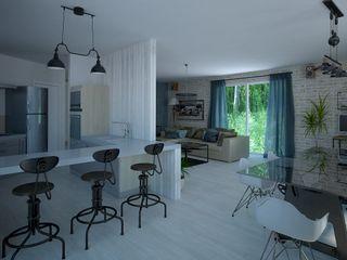 Tatiana Sukhova Industrial style dining room