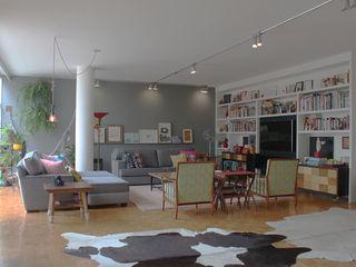 omnibus arquitetura Modern Living Room Wood