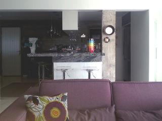 omnibus arquitetura Modern Living Room Cotton Purple/Violet
