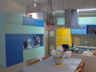 omnibus arquitetura Modern Dining Room MDF Blue