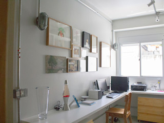 omnibus arquitetura Modern Study Room and Home Office MDF White