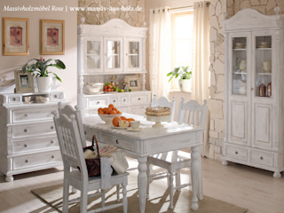 Massiv aus Holz Country style dining room Solid Wood White