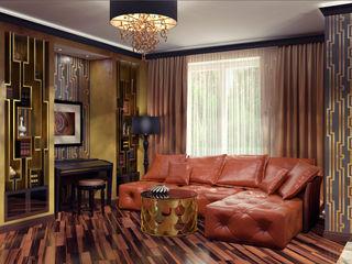 Alena Gorskaya Design Studio Modern living room Brown