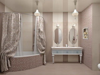 Alena Gorskaya Design Studio Classic style bathroom Beige