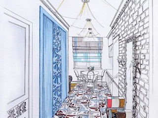 Alena Gorskaya Design Studio Modern corridor, hallway & stairs White