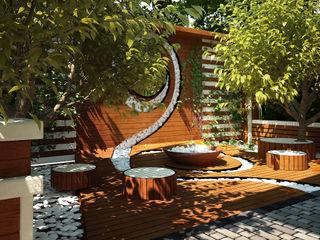 Мастерская ландшафта Дмитрия Бородавкина Jardines de estilo minimalista Madera Beige