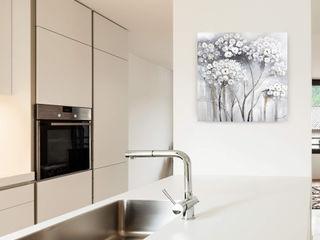 Acrylbilder & Gemälde in Grau KUNSTLOFT Kunst Bilder & Gemälde Baumwolle Grau