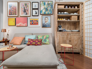 Cores Lovers Eclectic style living room Multicolored