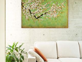 Acrylbilder & Gemälde in Grün KUNSTLOFT Kunst Bilder & Gemälde Baumwolle Grün