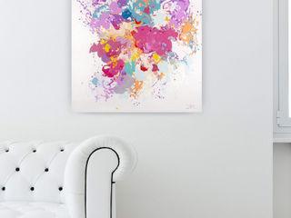 Handgemalte Wandbilder in Pink KUNSTLOFT Kunst Bilder & Gemälde Baumwolle Pink