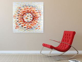 Acrylbilder & Gemälde in Orange KUNSTLOFT Kunst Bilder & Gemälde Baumwolle Orange