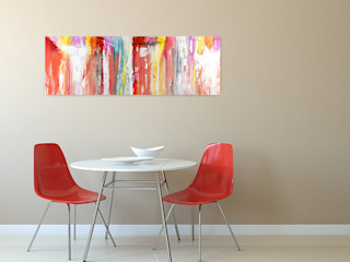 Acrylbilder & Gemälde in Rot KUNSTLOFT Kunst Bilder & Gemälde Baumwolle Rot