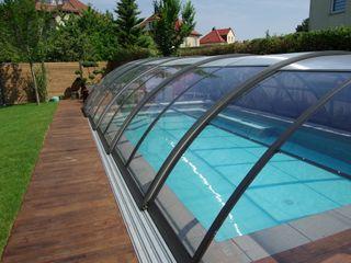Foliebecken grau-hellgrau+ FKB Schwimmbadtechnik Modern pool