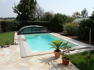 Foliebecken Sand pearl FKB Schwimmbadtechnik Modern pool