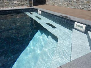 Foliebecken schwarz Mosaik FKB Schwimmbadtechnik Modern pool