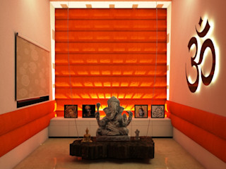 TULI ARCHITECTS AND ENGINEERS Modern Walls and Floors Textile Amber/Gold