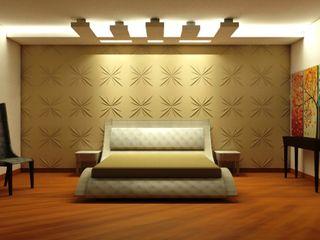 TULI ARCHITECTS AND ENGINEERS Modern Bedroom Wood-Plastic Composite Beige