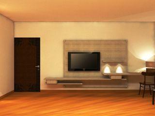 TULI ARCHITECTS AND ENGINEERS Modern Bedroom Wood Beige