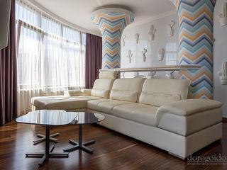 Солнечная квартира. г. Ялта Дорогой Дом Гостиная в стиле минимализм