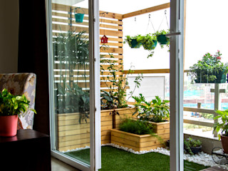 Studio Earthbox Country style balcony, porch & terrace