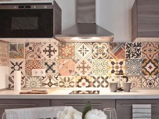Pinar Miró S.L. 現代廚房設計點子、靈感&圖片 磁磚