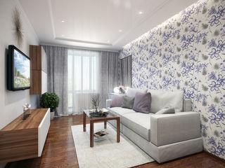 Студия интерьера 'SENSE' Eklektik Oturma Odası Beyaz