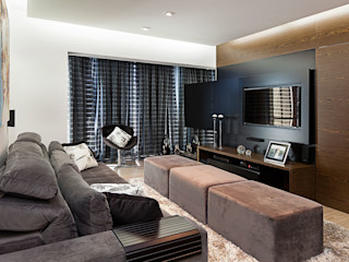 Angelica Hoffmann Arquitetura e Interiores Living roomTV stands & cabinets